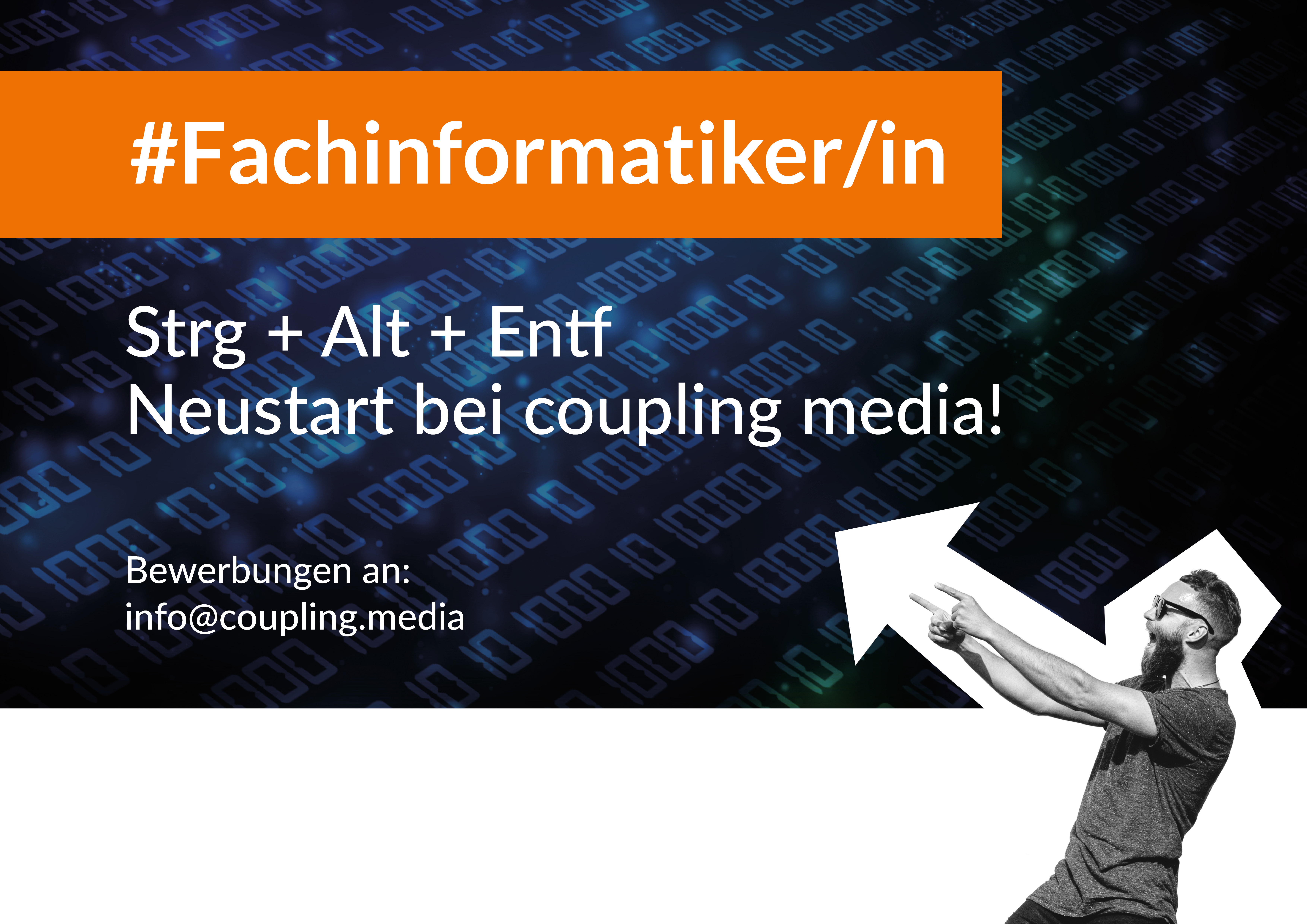 Fachinformatiker und Online Marketing Jobs bei coupling media. Bewerbungen an: sj@coupling-media.de